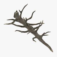 fallen tree 3d model