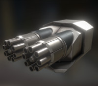 3d model of gatling gun module
