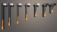 axes gardening 3d model