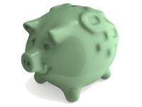 piggy bank 3d obj