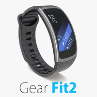 3d model of samsung gear fit2 2