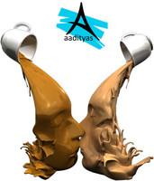 3d obj kiss tea coffee