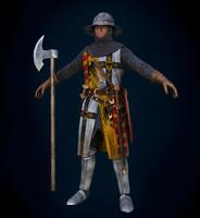 3d model of knight