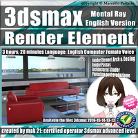 3ds max Mental Ray Render Element English.