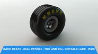 Racing wheel with rim