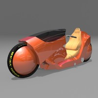 3d rigged motorcycle tire model