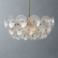 west glass disc chandelier 3d max