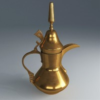 dallah arabic teapot 3d model