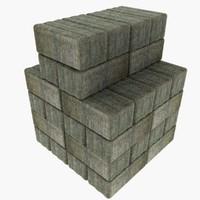 stack hay bales 3d 3ds