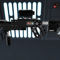 3d model gun sci-fi rifle