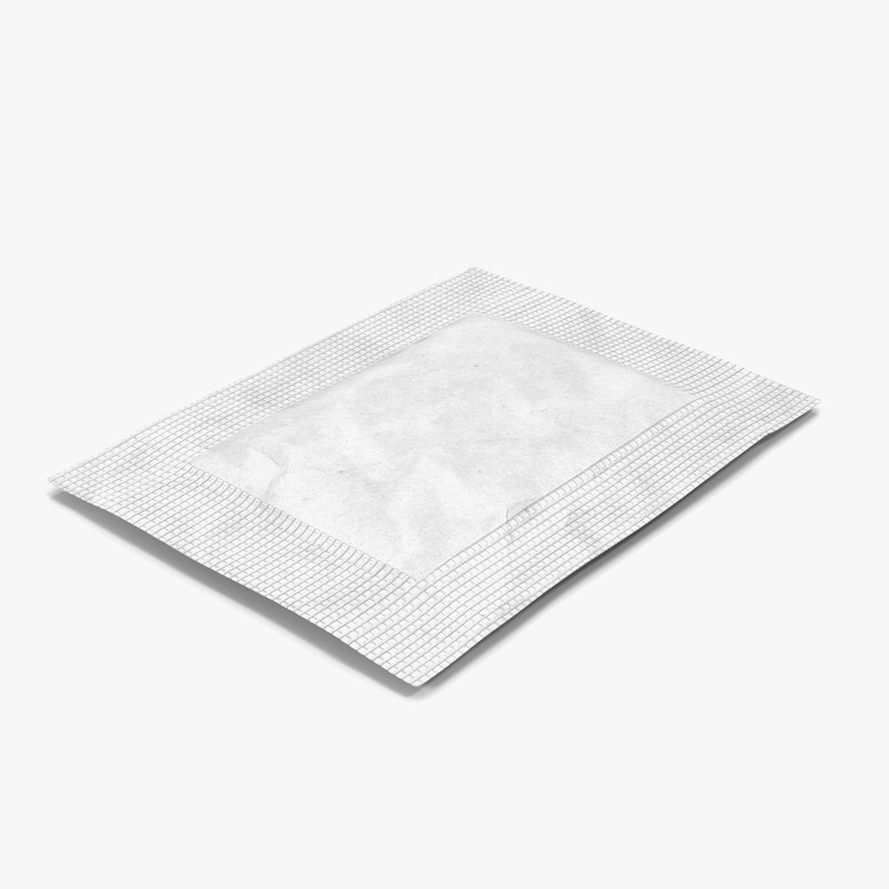 Sugar Packet White 3d model 00.jpg
