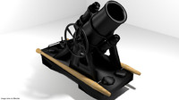 3d minenwerfer mortar model