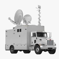 3d model tv truck