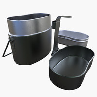 military dishes set 3d max