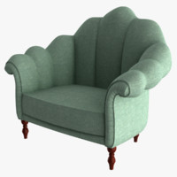 3d fabric armchair model