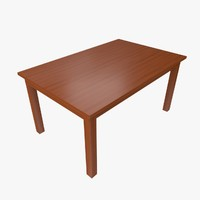 3d model of table collada dae