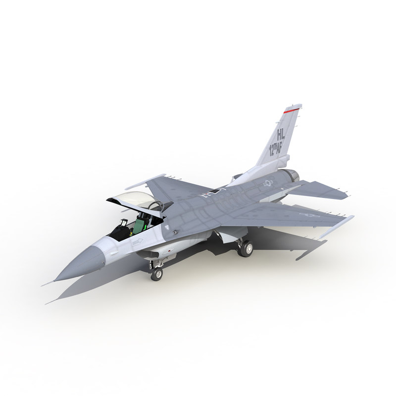 Fighter F-16 Fighting Falcon Rigged US 3d model 01.jpg