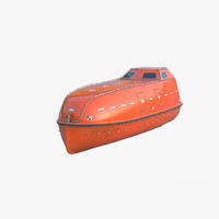 3d model lifeboat sea rescue