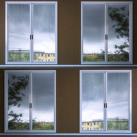 misted wet window 3d max