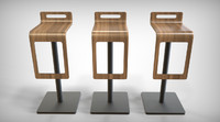wooden waterfall chair 3ds