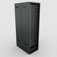 3d data server rack