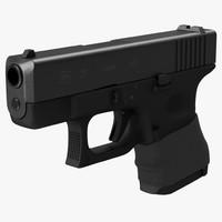 glock 26 handle 3d max