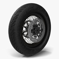 3d motorcycle wheel model