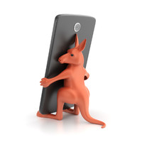 3d obj printable kangaroo smartphone holder