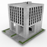 3d model of office build 30