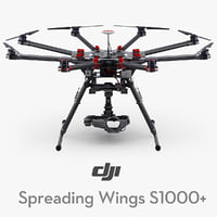 dji spreading wings s1000 3d max