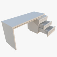 3d model interactive office desk