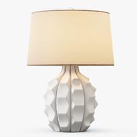scalloped ceramic table lamp max