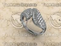jewellery ring 14k 3d 3dm