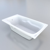 3d bathroom tub model