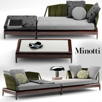 sofa minotti indiana 3d model