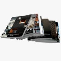 magazine open 3d model