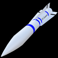 pbr uv-textured aim-54 phoenix missile 3d 3ds