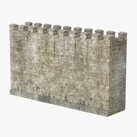 3d wall section 02 model