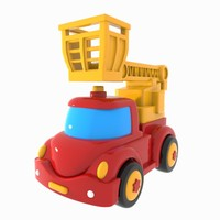 truck toon rescue 3d obj