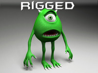 3d cartoon monster rigged model