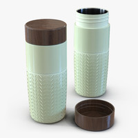 travel mug green 3d 3ds