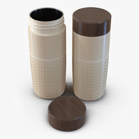 3d travel mug yellow model