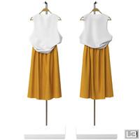 woman clothes hanger 3d model