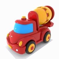 mixer truck toon 3ds