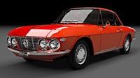 3d lancia coupe fulvia model