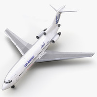 boeing 727-100 iran aseman 3d max