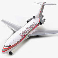 3d boeing 727-100 kalitta air model