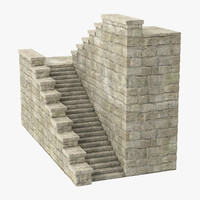 castle stairs 03 3d model