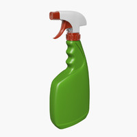 spray bottle 3d 3ds