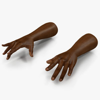 african man hands pose 3d model